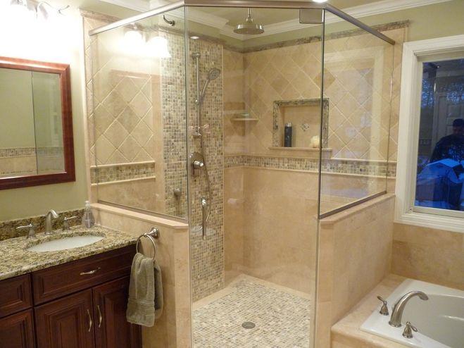 дизайн ванной, песочные оттенки в ванной