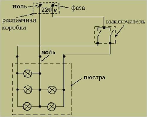 Контроллер схема подключения 2 люстр