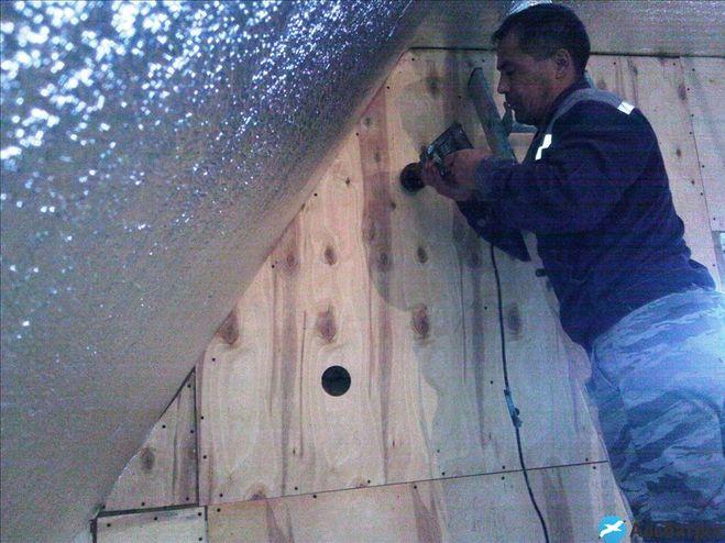Потолок пароизоляция в доме на