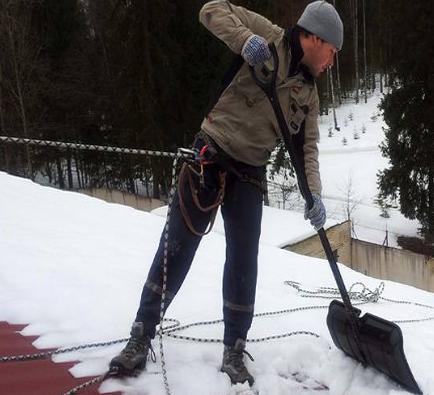 Что нужно для уборки снега с крыши