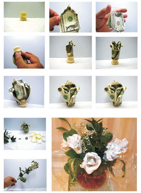 Цветок из денежной купюры своими руками 793