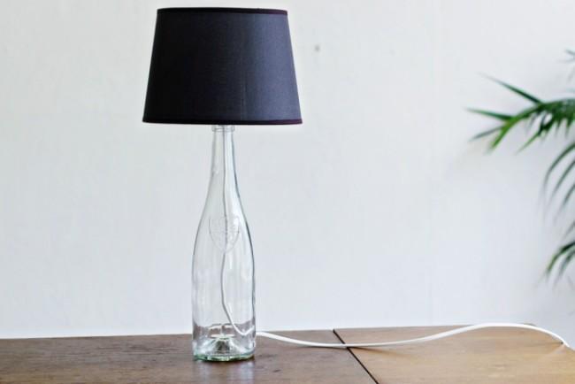 Лампа из бутылки своими руками