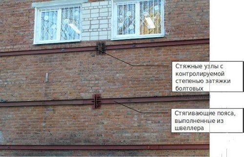 Как сделать стяжку стены при трещине