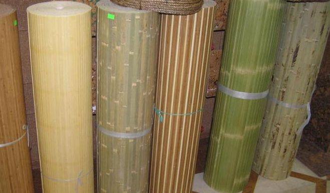 Обои из бамбука.
