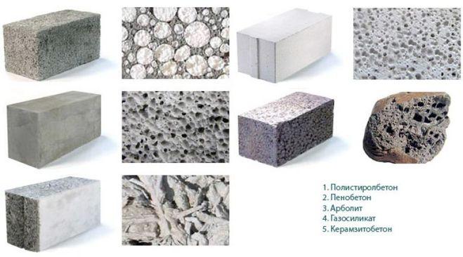 виды легкого бетона