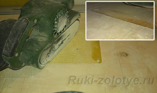 Удаление ржавчины с деталей плоского