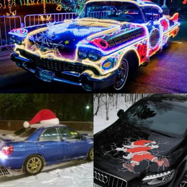 новогодний декор авто