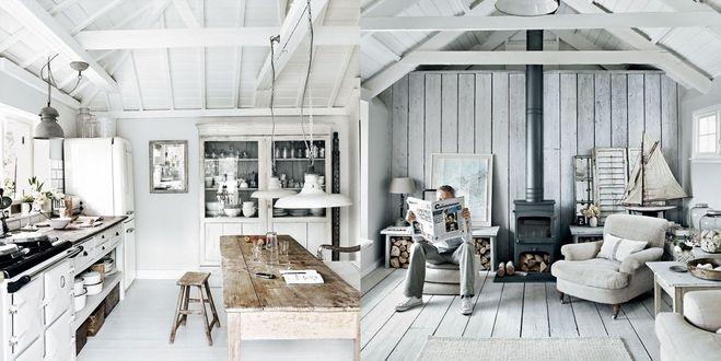 Белый интерьер в дачном домике