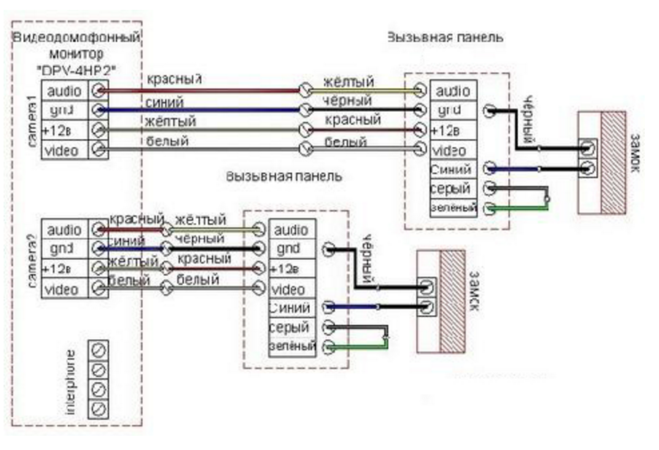 принципиальная схема commax cdv-35n