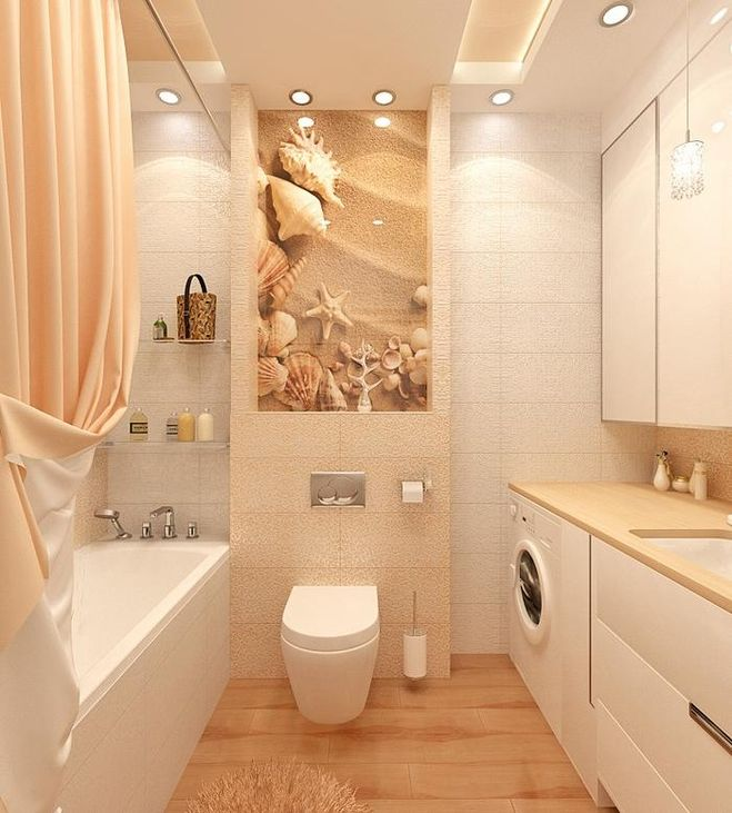 ванная песочного цвета