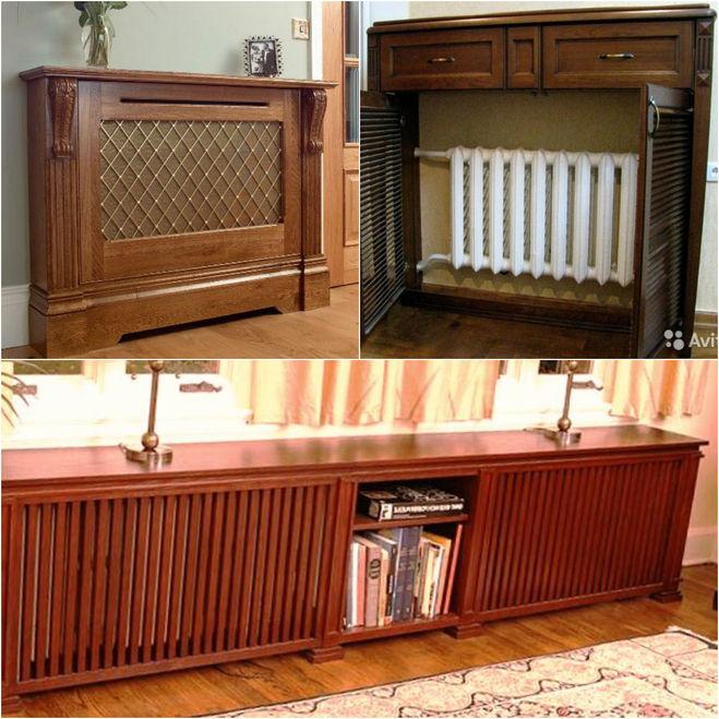экраны для труб отопления, под мебель