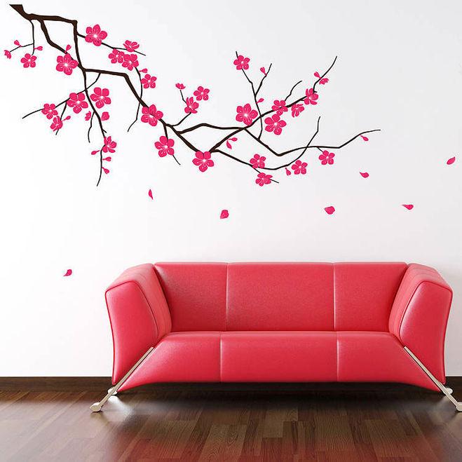 Рисунки на стене  сакура 74