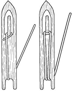 инструмент для ремонта рыболовных сетей