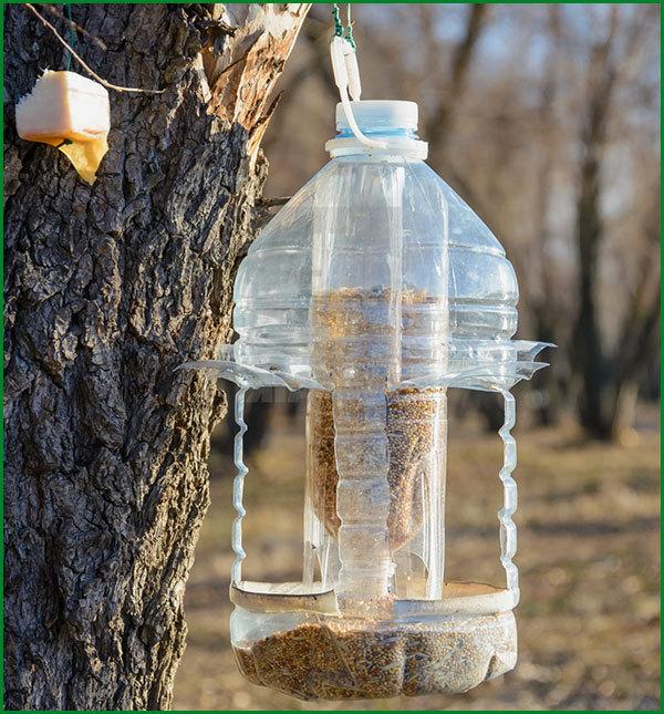 Кормушки из пластиковой бутылки своими руками