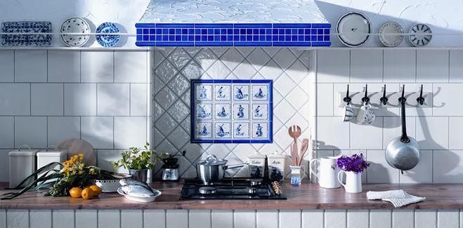 Плитка на кухне.