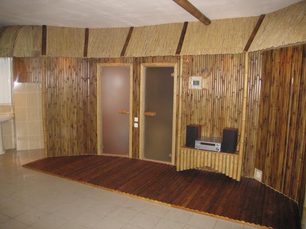бамбук интерьер.