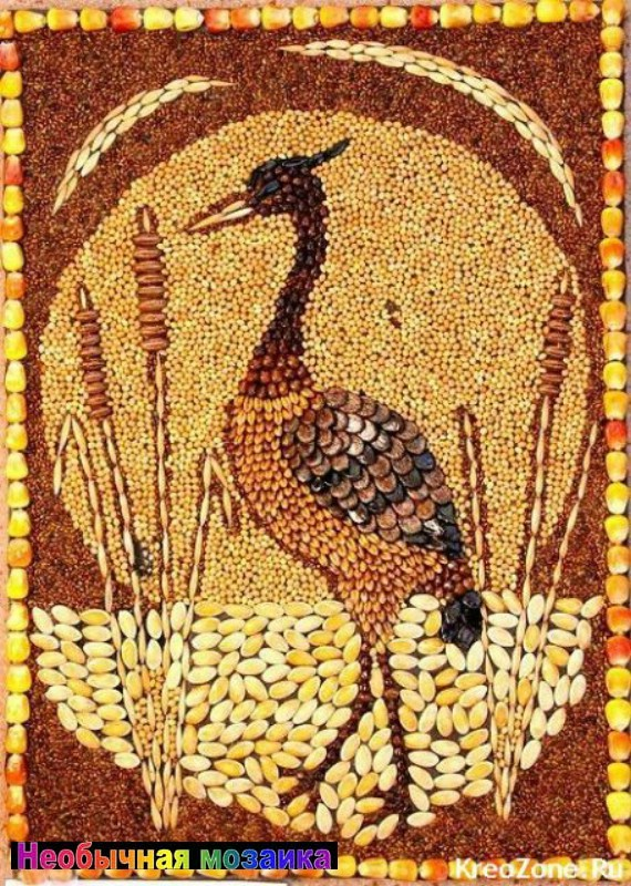 Картины поделки из зерна