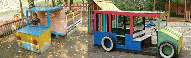 Деревянные машины.