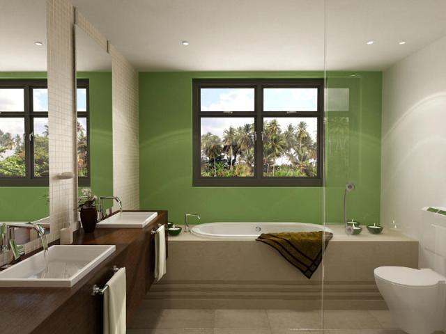 зеркало и фальш-окно в ванной