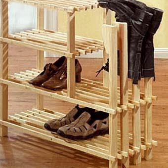 Этажерки для обуви из дерева