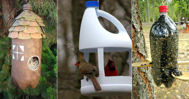Как сделать кормушку для птиц своими руками простую