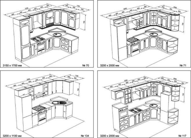 Угловая кухня своими руками из дерева чертежи 28
