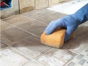 убрать пятна с плитки