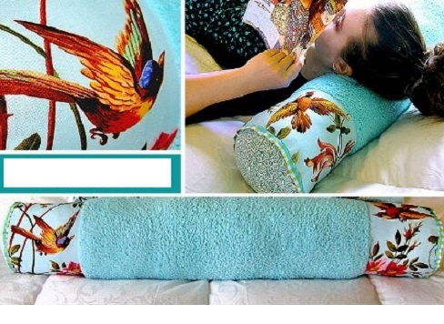 Подушка-валик своими руками видео