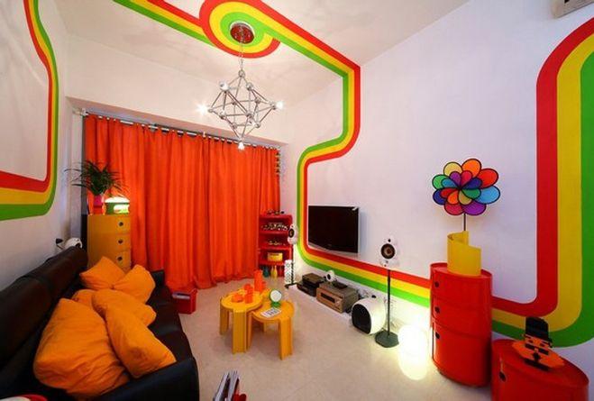 яркие цвета в интерьере фото 3, детская