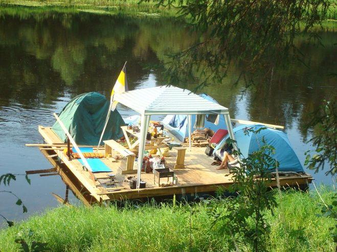 Как построить плот для сплава по реке своими руками фото 135