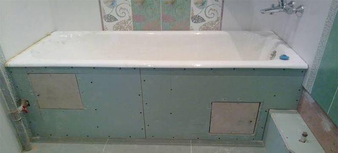 Стены из гипсокартона своими руками ванная