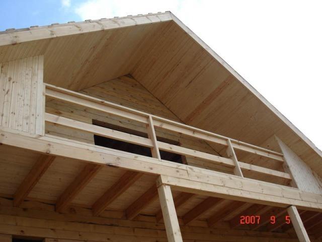 Как сделать балкон на мансарде.