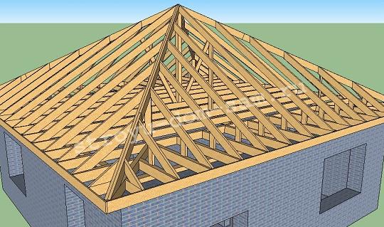 Шатровые крыши покрываются