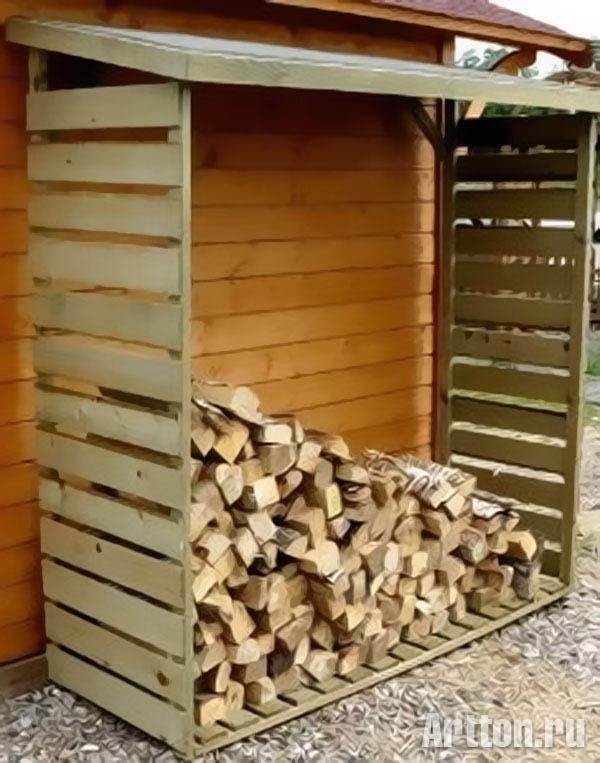 Поленница дров своими руками 7