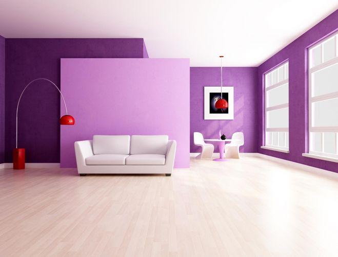 Шторы к фиолетовым обоям фото