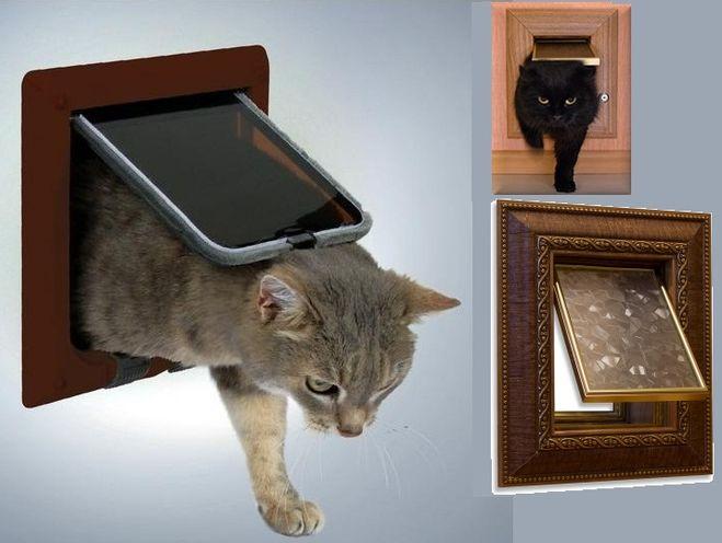 Как сделать дверцу для кошки своими руками фото 521