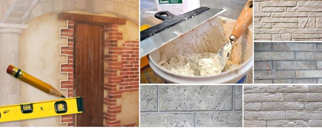 Как сделать стену под кирпич своими руками?