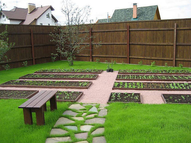 Планировка огорода на дачном участке своими руками