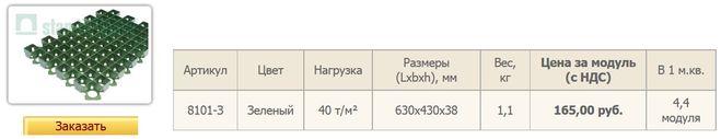 Газонная решетка РГ-60.40.3,8 пластиковая.