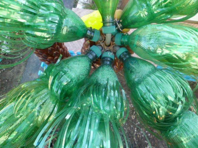 Как сделать из пластиковой бутылки пальму фото пошаговые