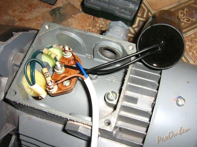 Фото схема подключения электродвигатель
