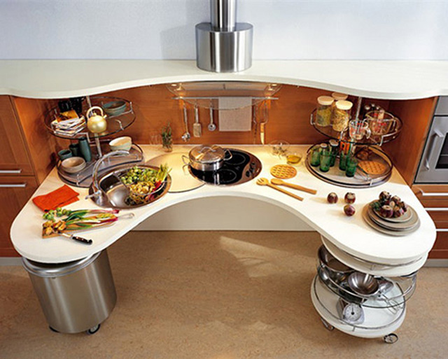 Кухни необычного дизайна фото