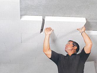 пенопласт на потолке