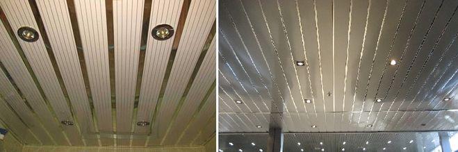 Реечный потолок.