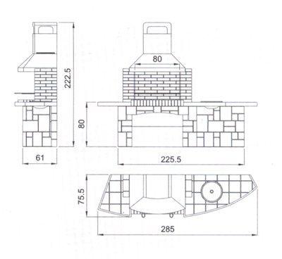 Размер дымохода барбекю негорючий изоляционный материал для дымохода