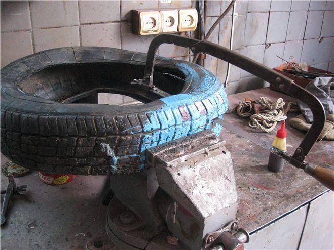 Чем разрезать шину для поделок 616