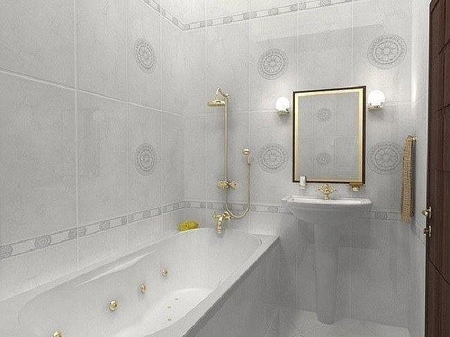 светлый фон в ванной