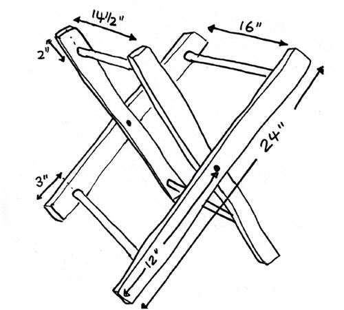 Как сделать раскладной стул для рыбалки своими руками чертежи 34