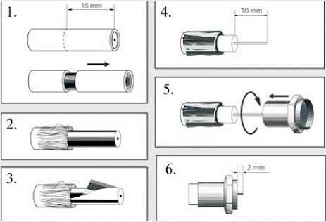 Как сделать тв кабель 651