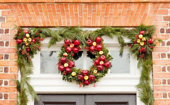 новогодние украшения фасада